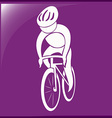 Sport icon design for cycling on purple vector image vector image