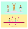 Sport people activities icon vector image