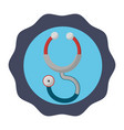 sticker stethoscope medical tool revision vector image vector image