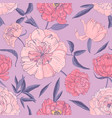 stylish seamless pattern with beautiful blooming vector image vector image