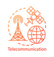 telecommunication concept icon overall wireless vector image vector image