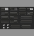 toggle switch buttons and push buttons black vector image