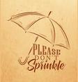 umbrella graphics craft vector image