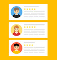user reviews online customer feedback review vector image