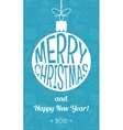 Vintage christmas card Flat design vector image vector image