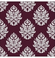 Vintage seamless pattern in carmine and white vector image vector image