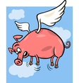 when pigs fly cartoon vector image vector image