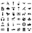 wireless technology icons set simple style vector image vector image