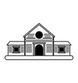 wooden house icon image vector image