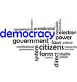 word cloud democracy vector image