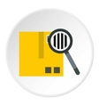 Quality control icon flat style vector image