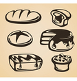 sweet and bread vector image