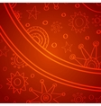 Doodle christmas background vector image