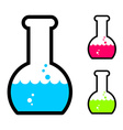 Laboratory flask with acid Tube for research vector image