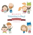 Set of four positions loving couple vector image
