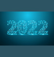 2022 new year text design with mesh stylish vector image