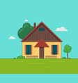 a little house vector image vector image