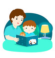 a of a father reading a bedtime vector image vector image