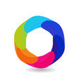 abstract circle with different shades of circle vector image vector image