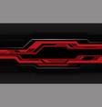 abstract red grey circuit cyber metallic black vector image vector image