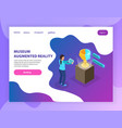 augmented reality museum landing page vector image vector image