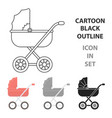 baby transport icon in cartoon style isolated on vector image vector image