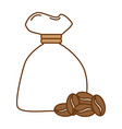 bag coffee seeds isolated icon vector image vector image