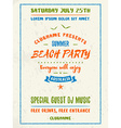 Beach Party Flyer or Poster Night Club Event