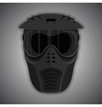 Black mask vector image