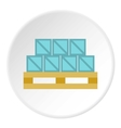 Boxes goods icon flat style vector image vector image