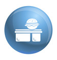 burger lunchbox icon simple style vector image vector image