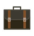 Business suitcase icon flat style Portmanteau vector image vector image