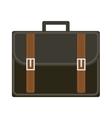 Business suitcase icon flat style Portmanteau vector image
