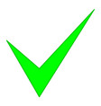 check mark green pointed vector image vector image