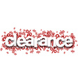 Clearance paper note over percent signs vector image