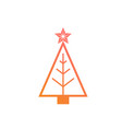 colorful gradient christmas tree flat icon vector image vector image