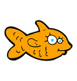 comic cartoon happy goldfish vector image vector image
