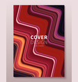 cover design template with gradient color vector image