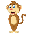 cute monkey cartoon vector image