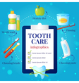 Dental Care Infographic Set vector image vector image