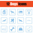 dogs icon set vector image vector image