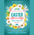 easter weekend party flyer template vector image vector image
