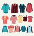 fashion shirts set fashion womens shirts vector image vector image