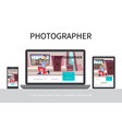 flat photography modern concept vector image