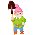 Garden Gnome with shovel vector image