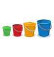 garden plastic buckets vector image vector image