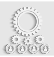 gears back vector image