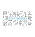 ghostwriter horizontal outline banner or vector image vector image