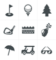 golf Icons Set Design vector image vector image
