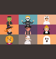 halloween party video conference vector image
